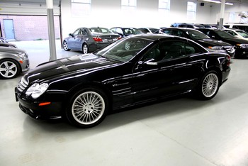 Image of a Black 2003 Mercedes-Benz SL55 AMG